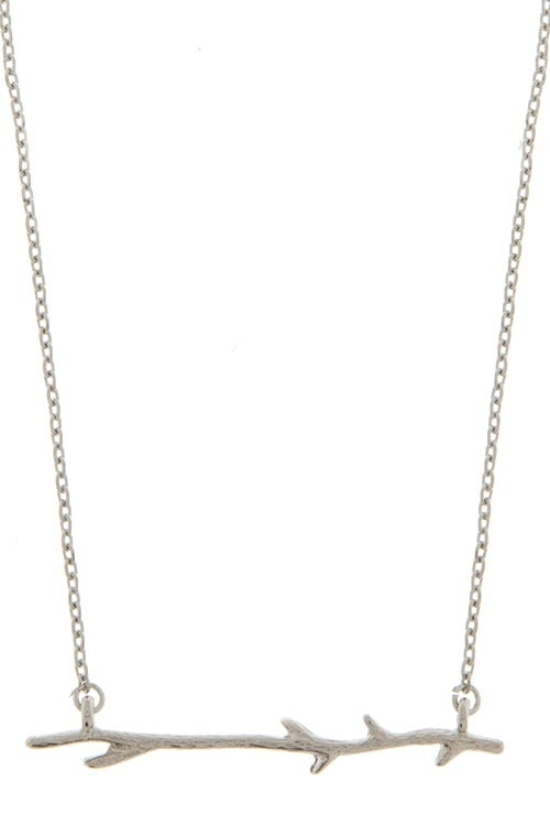 Image of Tree Branch Necklace (also available in gold)