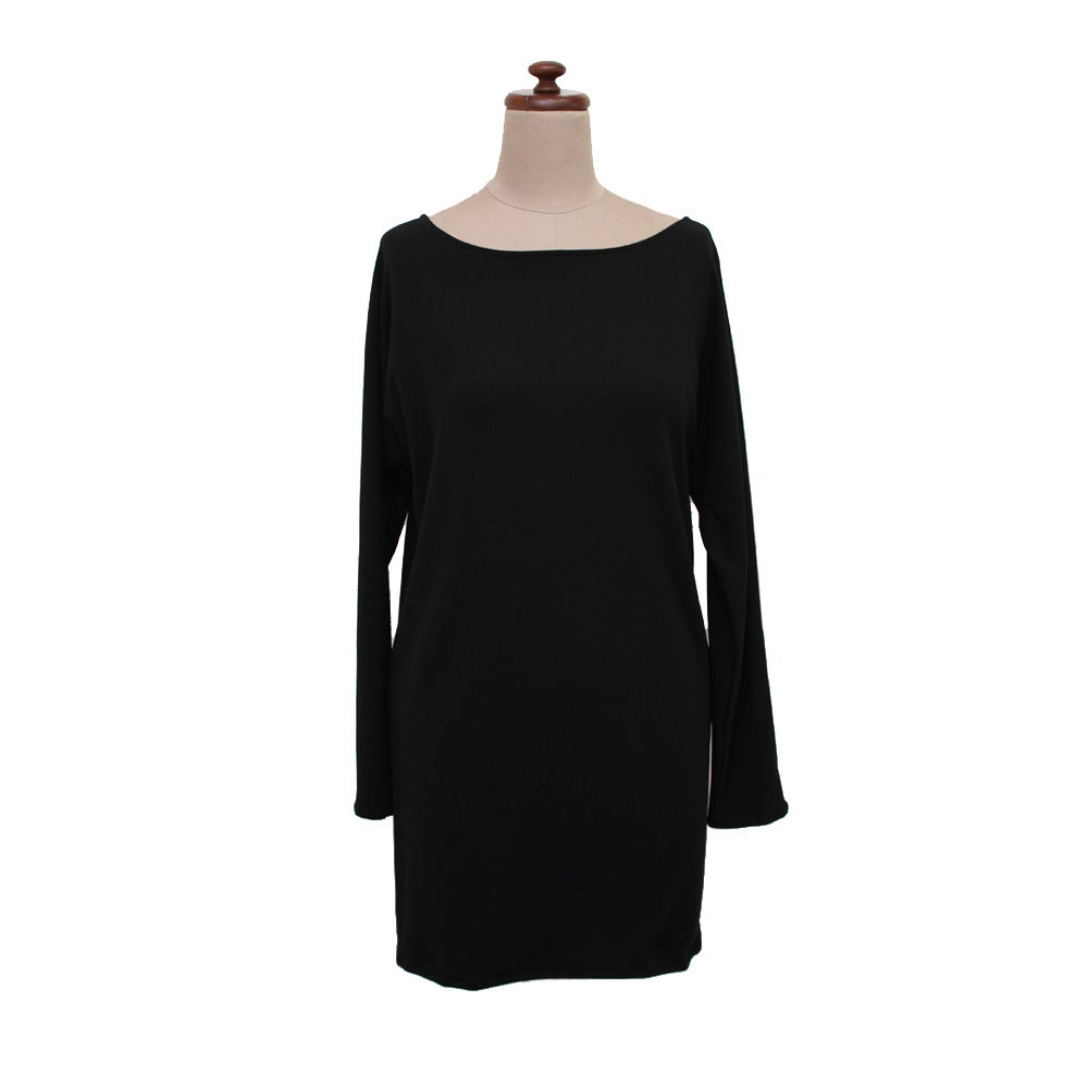 Image of black bamboo long top/dress