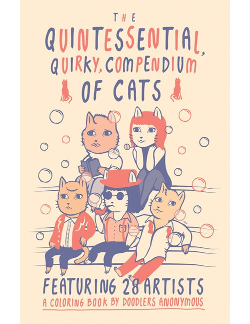 Image of The Quintessential, Quirky, Compendium of Cats (mini coloring book)