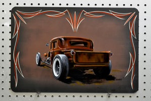 Image of Rat Rod Truck / Metal Print