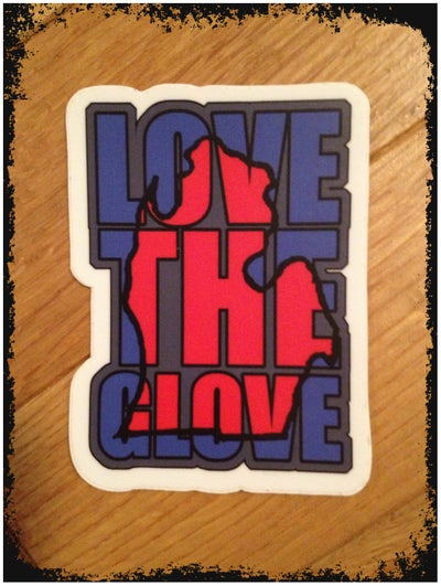"Image of Love The Glove 2""x3"" Sticker"