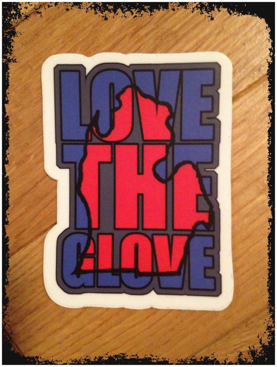"Image of Love The Glove 2""x3"" Sticker"