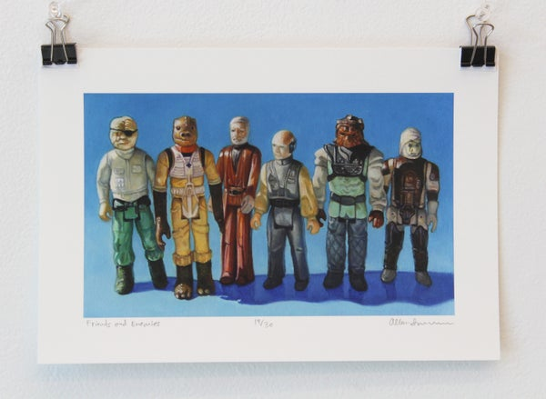 Image of Friends and Enemies // Giclee artist print