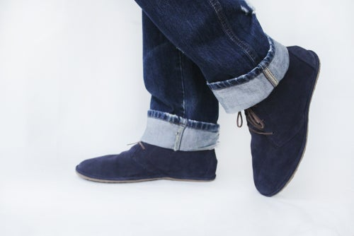Image of Desert boots - Lion in Blue Suede