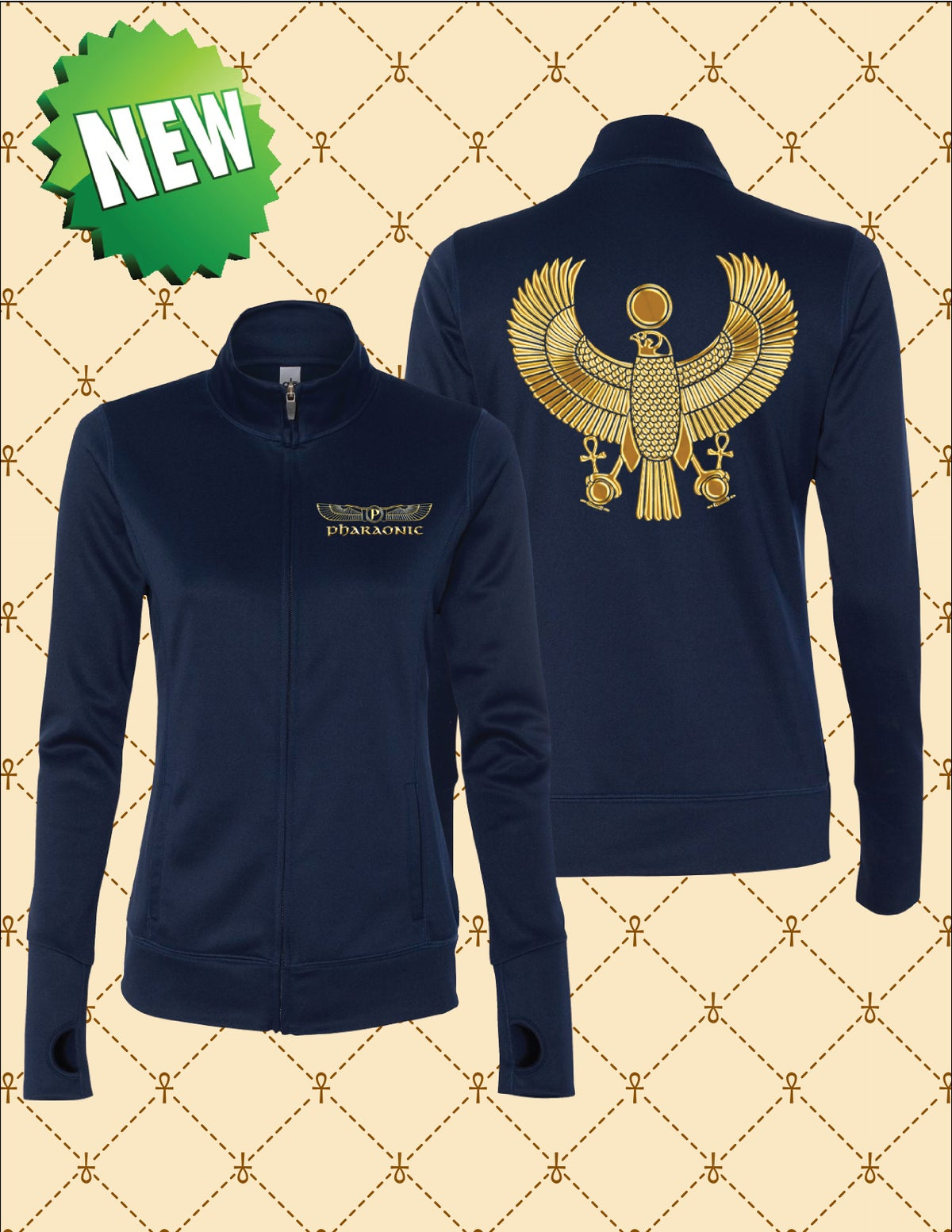 Image of LADIES PERFORMANCE GOLD/SILVER FOIL HERU TRACK JACKET