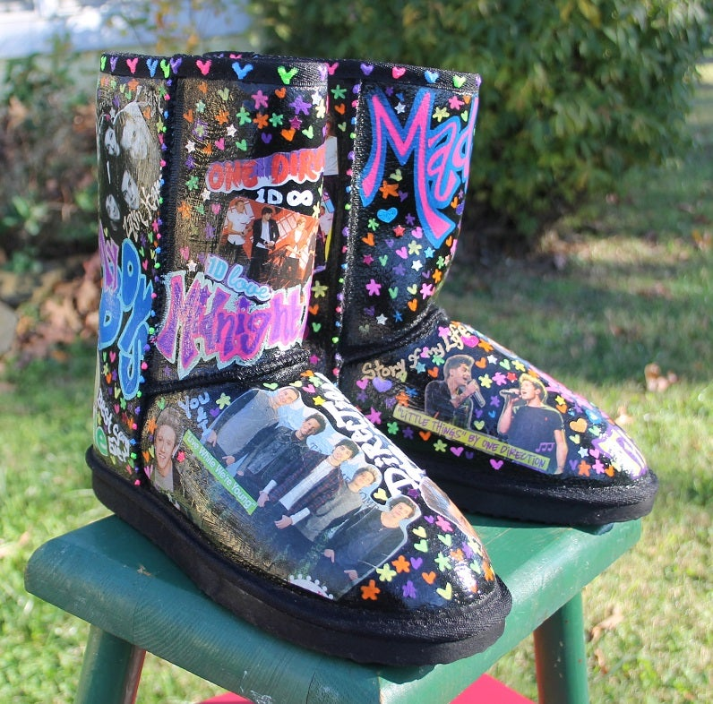 size 40 a7c79 cd8a1 Image of Custom Uggs Vans Converse Shoes Tall Knee Boots Holiday Gift How  They Want!