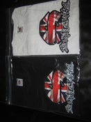 Image of SKATERHAM T-SHIRTS, UNION JACK, WHITE OR BLACK
