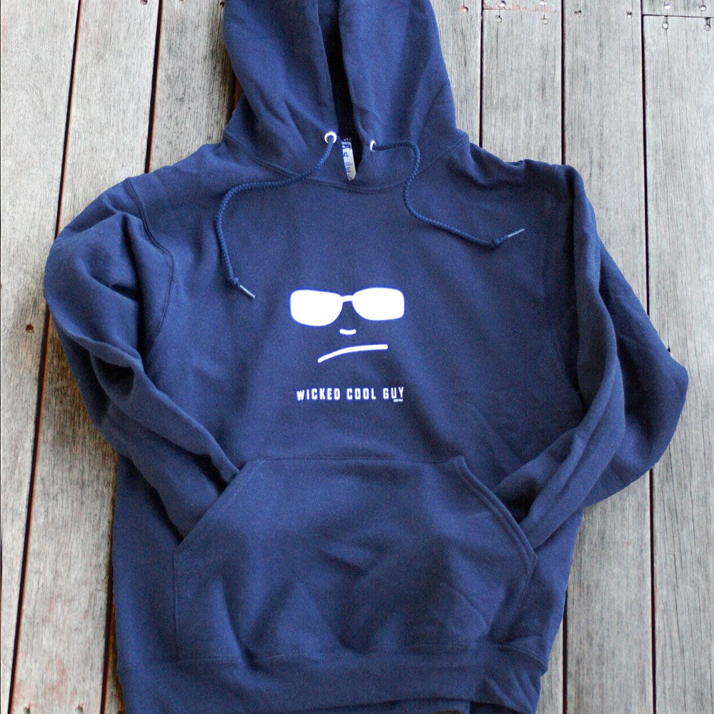 Image of Mens Classic Navy Hooded Sweatshirt