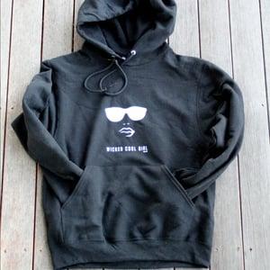 Image of Womens Classic Black Hooded Sweatshirt