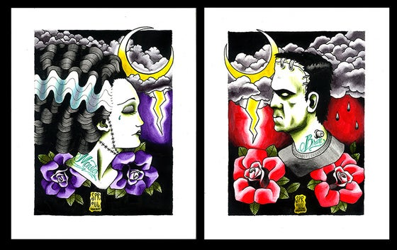 "Image of ""The Monster & The Bride"" Prints"