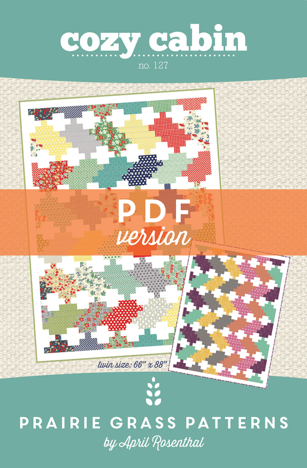 Image of Cozy Cabin: PDF Quilting Pattern #127