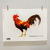 Image of Thai Red Rooster Tea Towel