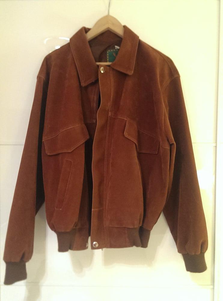 Image of Camel Suede bomber jacket