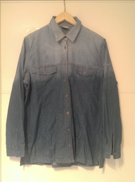 Image of Dip Dye Denim Shirt