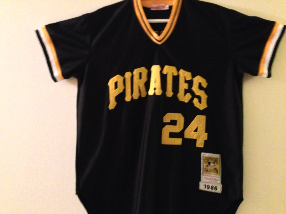 new arrival b5fc7 faba1 Barry Bonds Pirates Mitchell & Ness Cooperstown Collection - Stitched