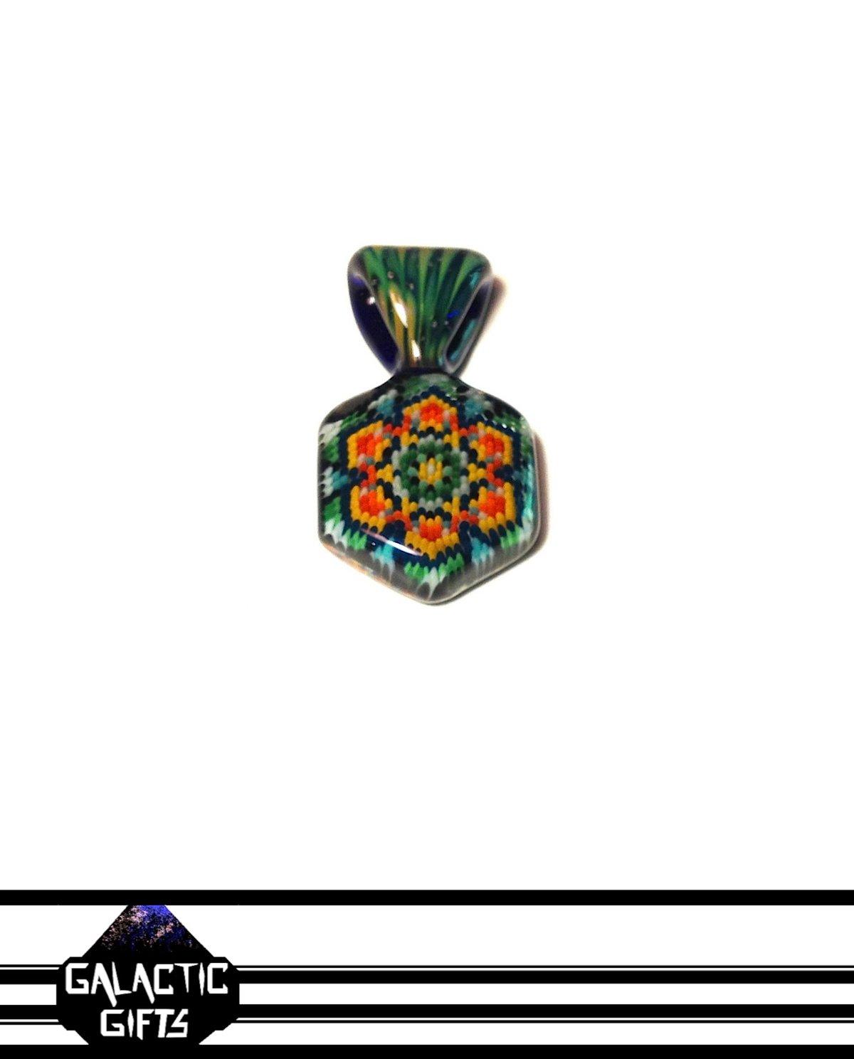 Image of Robin Moore + Stoke Glass Sacred Peyote Collab Pendant