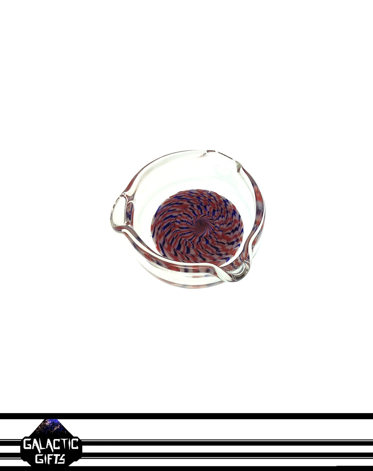 Image of Hermit Glass Coil Pot Worked Dish