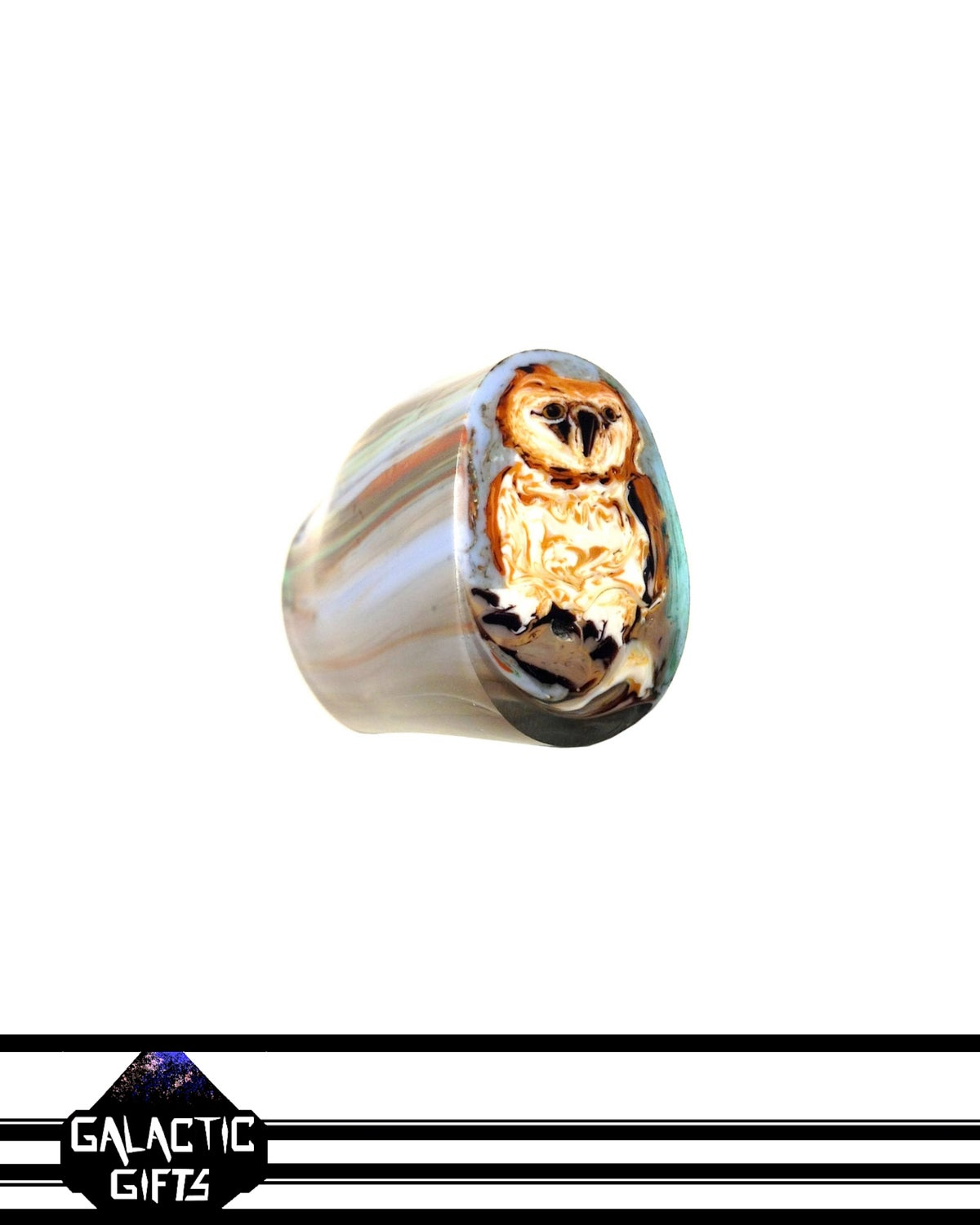 Image of Stephen Boehme Forest Owl End Cane Chunk