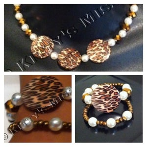 Image of Cheetah Necklace with matching bracelet