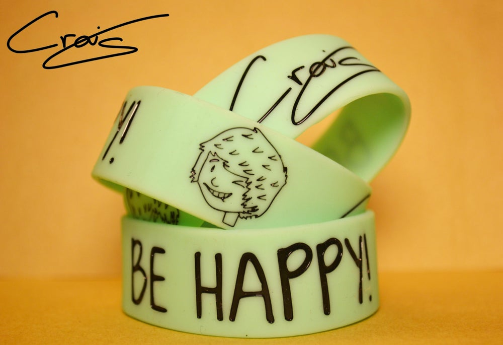 Image of Be Happy! Craig's Aqua Wristband!