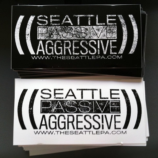 Image of Seattle Passive Aggressive Sticker