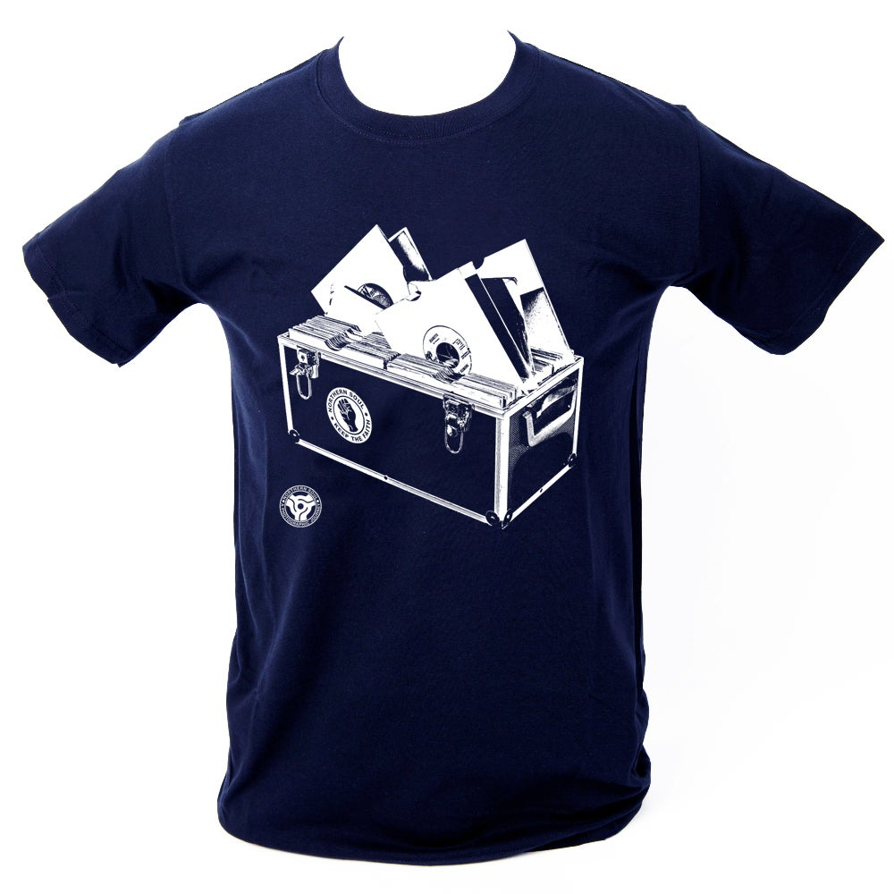 Image of 'Record Box' T-Shirt - Navy Blue