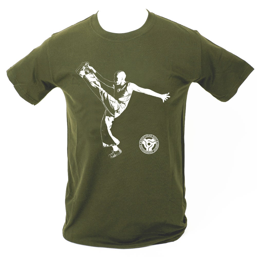 Image of 'High Kick' T-Shirt - Military Green.