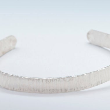 Image of Sterling Silver Bark Textured Cuff Bracelet