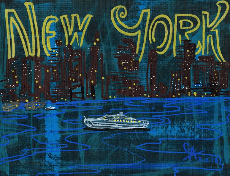 Image of Manhattan Skyline - SOLD