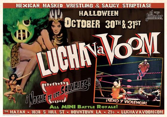 Image of Lucha VaVOOM Halloween 2013 Poster