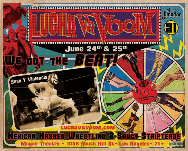 Image of Lucha VaVOOM poster 21