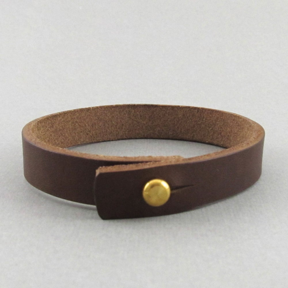 Image of Unisex Dark Brown Leather bracelet