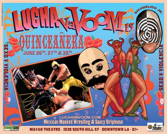Image of Lucha VaVOOM poster 15