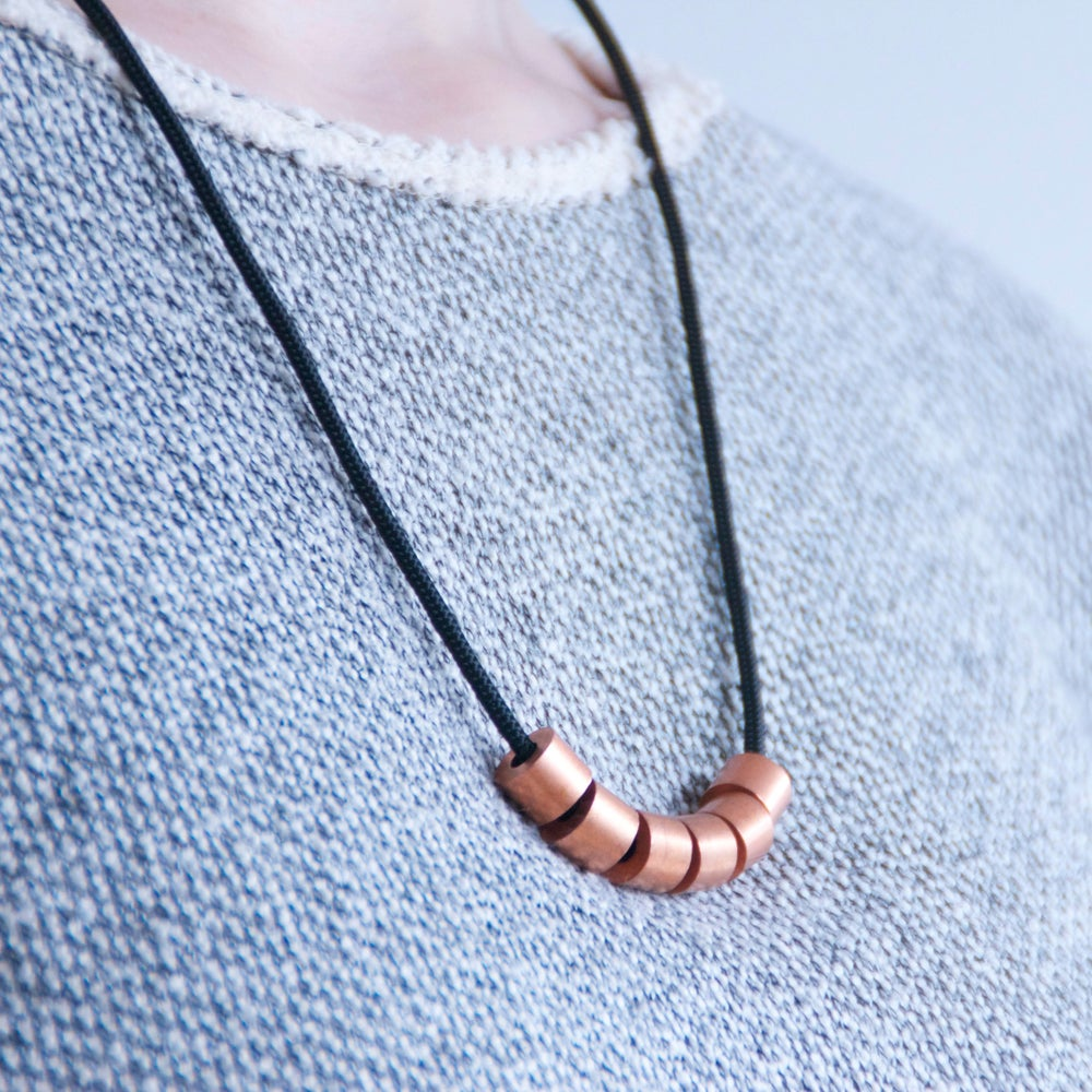 Image of ABACUS NECKLACE - COPPER - SMALL