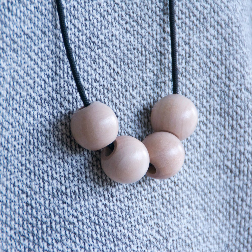 Image of ABACUS NECKLACE - WOOD