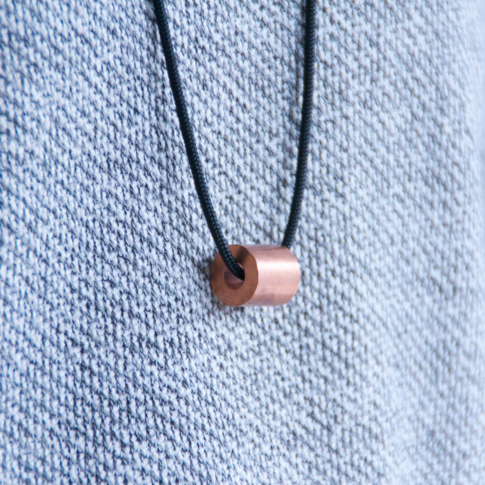 Image of ABACUS NECKLACE - COPPER - BIG
