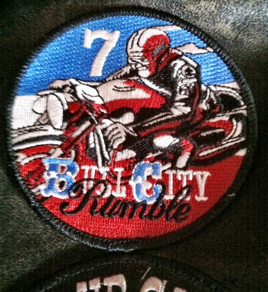 Image of Bull City Rumble 7 Rally Patch (FREE shipping in USA)