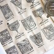 Cocktail Diagram Tea Towel
