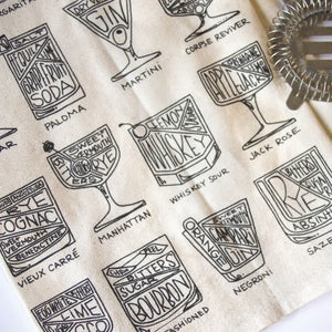 Image of Cocktail Diagram Tea Towel