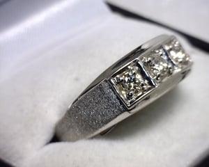 Image of 14K White Gold Men's Diamond Ring (.50CT)