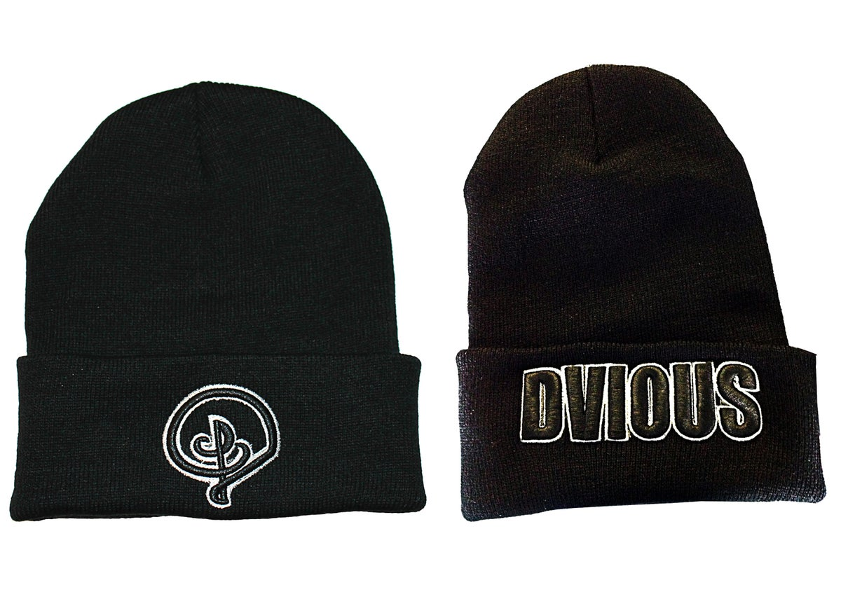 Image of BLACK DVIOUS BEANIE