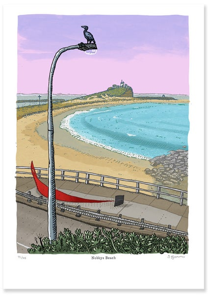 Image of Nobbys Beach Limited Edition Digital Print