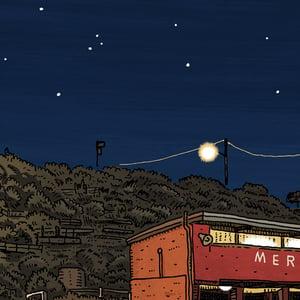 Image of Merewether Baths at Night Digital print