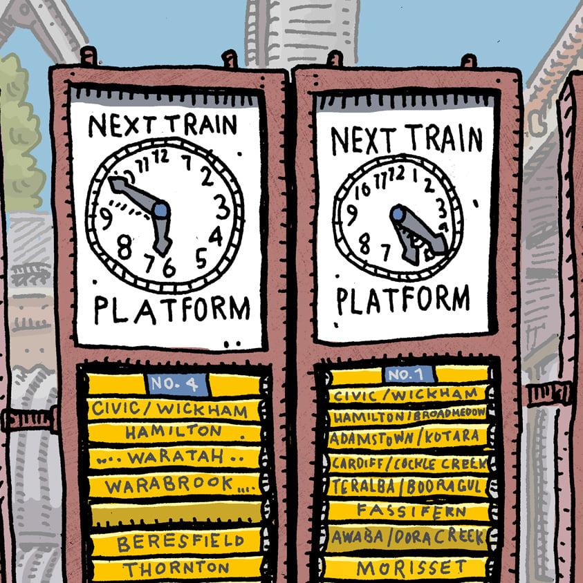 Image of Platform 1 Newcastle Station