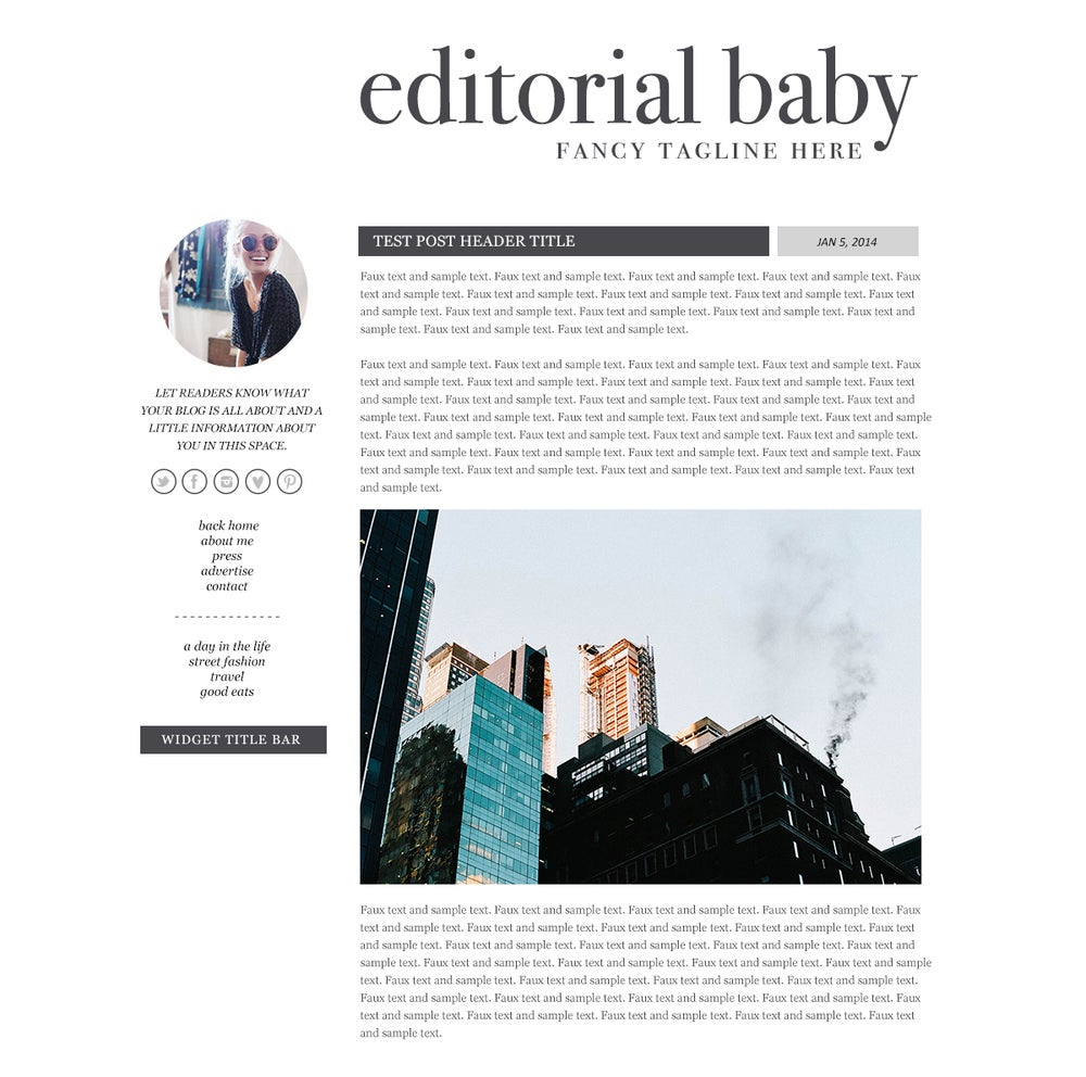 Editorial Baby - Blogger Template / Maiedae Templates