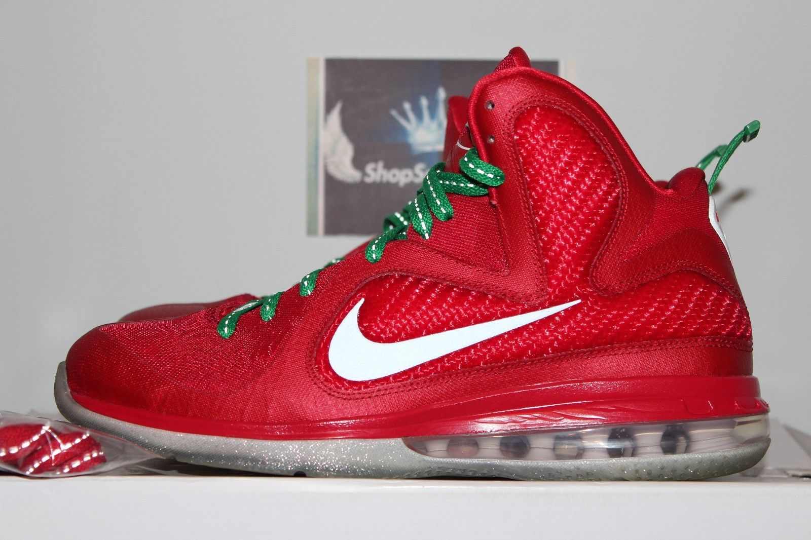 best loved 08589 9621c ... discount image of used nike lebron air max zoom 9 christmas quickstrike miami  heat championship mens