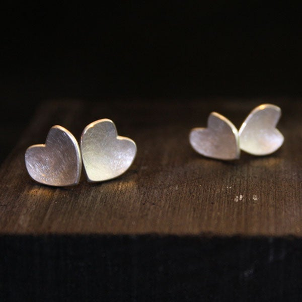 Image of One Pair of Heart Earrings