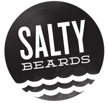 Image of Salty Beards Waterproof Sticker Pack