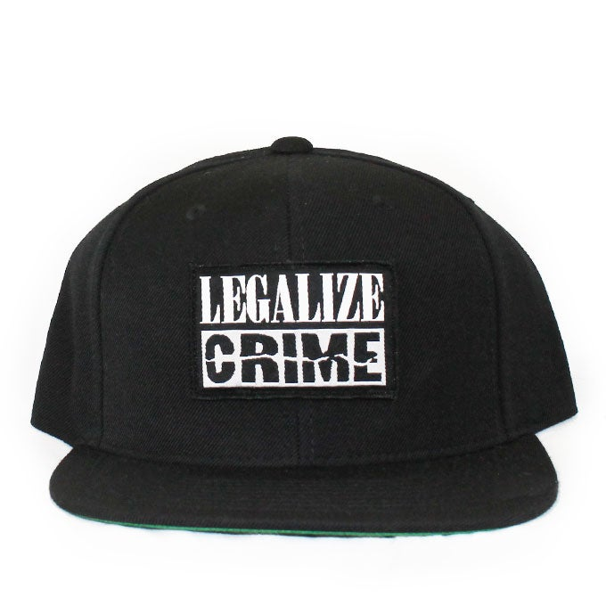 Image of LEGALIZE CRIME Black Snapback