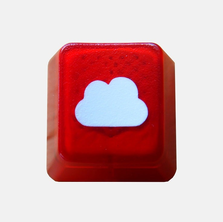 Image of Translucent Cloudy Keycap[Red Edition]